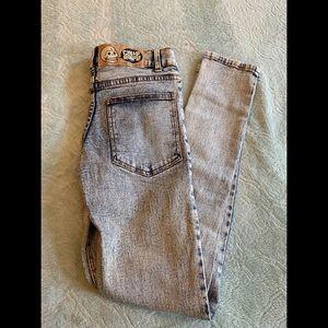 Cheap Monday tight blue acid wash jeans size 25
